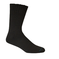 Bamboo Textiles  [Size: 4-6] Extra Thick Sock Black image