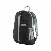 Explore Planet Earth Comet Packable Backpack 18L Black