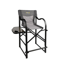 Oztrail Directors Vantage Camping Chair with Side Table