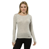 XTM Ladies Merino Thermal Top 230gsm Light Grey Marle [Size: 14] image