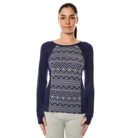 XTM Ladies 230gsm Merino Thermal Base Layer Navy Jaquard image