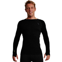 XTM Mens [Size: M] Merino Thermal Top Long Sleeve 230gsm Black image