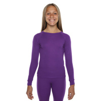 XTM Kids [Size: 10] Polypro Thermal Top Purple image