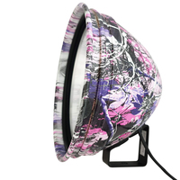 "Powa Beam 245mm/9"" QH 100W Pink Camo Spotlight w Bracket"