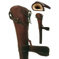 Ordnance Solid Leather Rifle Scabbard With Deluxe Fleece Lining